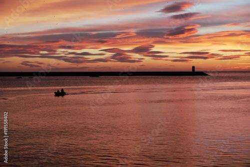 Foto op Canvas Zee zonsondergang Farol