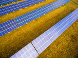 Aerial view to solar power plant. Industrial and renewable resources - 191562054
