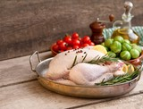 chicken, raw chicken with vegetables ready to cook - 191565242