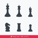 Chess Pieces (Chessman) Icons / Vectors Set
