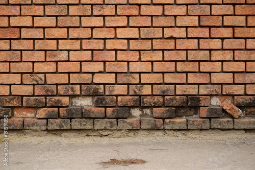 Papiers peints Brick wall Old Brick wall orange color vintage