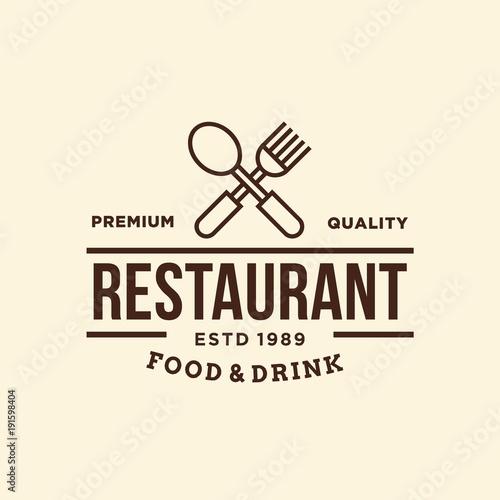 Restaurant-vector logo/icon illustration