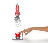 Rocket taking off - Startup concept - 191607482