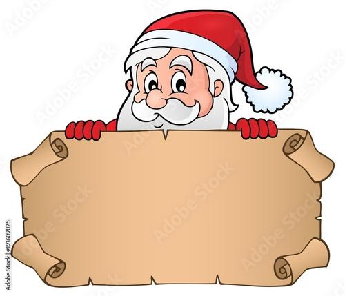 Aluminium Voor kinderen Lurking Santa Claus holding parchment 1