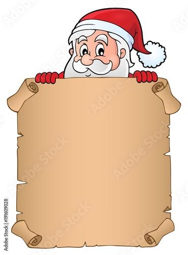 Aluminium Voor kinderen Lurking Santa Claus holding parchment 2