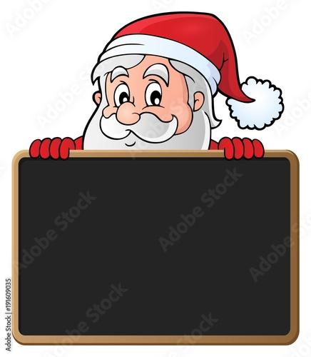 Aluminium Voor kinderen Santa Claus with blackboard theme 2