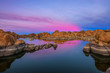 Sunset above Watson Lake in Prescott, Arizona