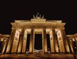 brandenburg gate in berlin, germany, at night