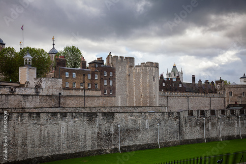 Staande foto Londen Tower of London outer curtain wall detail
