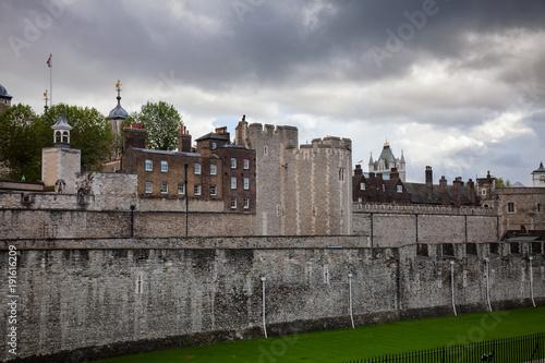 Keuken foto achterwand Londen Tower of London outer curtain wall detail