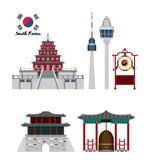 South korea culture icon vector illustration graphic design - 191619496