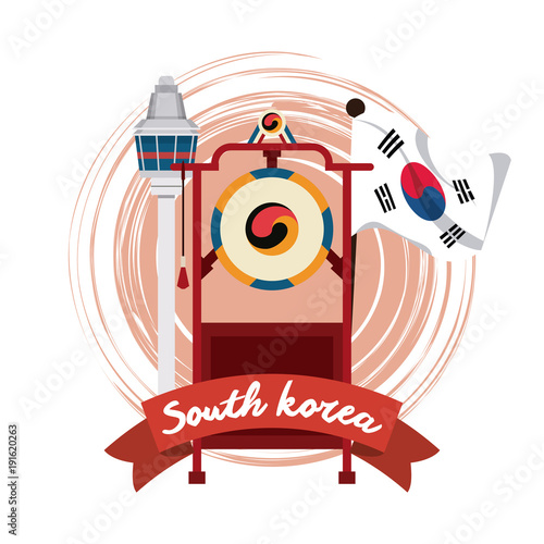 South korea culture icon vector illustration graphic design