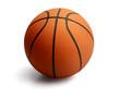 Basketball on isolated  white background