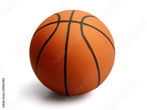 Foto Spatwand Basketbal Basketball on isolated white background