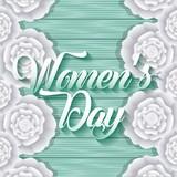 happy womens day card decorative carnation flowers celebration - 191623893
