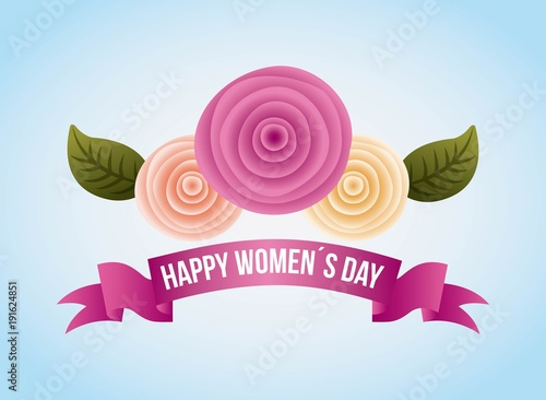 womens day card carnation flowers decoration banner