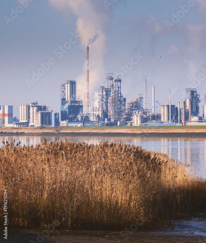 Fotobehang Antwerpen Industry in Antwerpen Belgium