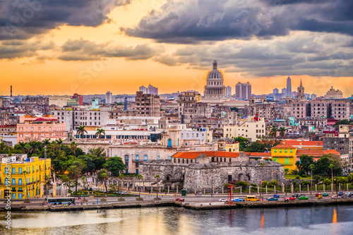 Foto op Aluminium Havana Havana, Cuba downtown skyline.