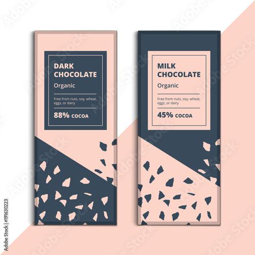 Organic Dark And Milk Chocolate Bar Design Creative Abstract Choco