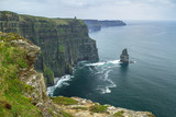 Cliffs of Moher in Ireland at cloudy day, Co. Clare - 191632498