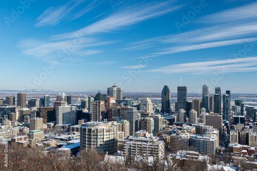 Deurstickers Canada Montreal Skyline in winter (2018)