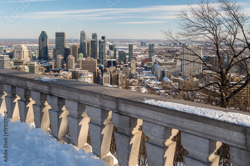 Montreal Skyline in winter (2018)