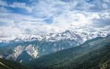 Mountain Range of the Alps on the border between Germany and Austria near Garmisch-Partenkirchen - 191643271