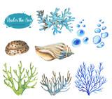 Set of marine objects - 191646029