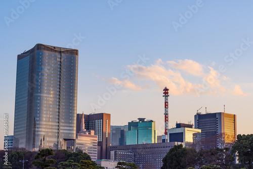 Fotobehang Tokio 東京のオフィス街
