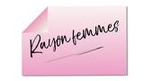 rayon femmes mémo rose fond blanc - 191649805