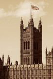 London, United Kingdom - Palace of Westminster (Houses of Parliament) with Big Ben clock tower. - 191650497