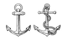 Vintage Sea Anchor  A Rope Sticker