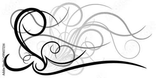 Ornement Abstrait Noir Gris