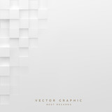 Abstract white square background. Geometric minimalistic cover design. Vector graphic. - 191666888
