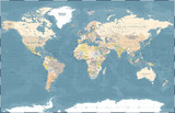 Political Colored World Map Vector - 191667094