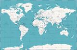 Political Vintage World Map Vector - 191667859