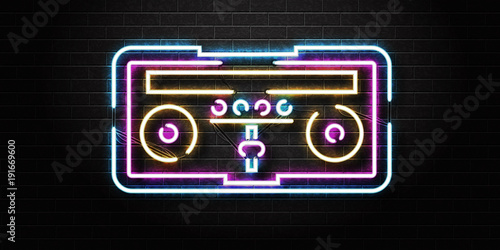 vector-realistic-isolated-neon-sign-of-dj-console-for-decoration-and-covering-on-the-wall-background-concept-of-night-club-music-and-dj-profession