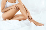 Long Woman Legs With Smooth Soft Skin. - 191670446