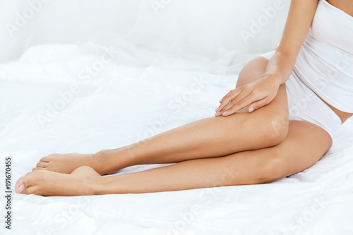 Long Woman Legs With Smooth Soft Skin.
