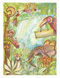 Wildlife imagination painting design - 191671824