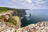 Cliffs of Moher in Ireland at cloudy day, Co. Clare - 191673046