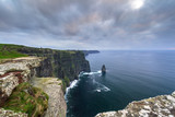 Cliffs of Moher in Ireland at cloudy day, Co. Clare - 191673076