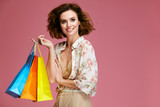 Fashion. Woman With Shopping Bags - 191674240
