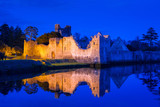 Ruins of the castle in Adare at night, Ireland - 191674814