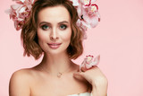 Fashion Makeup. Woman With Flowers In Hair In Spring - 191674836