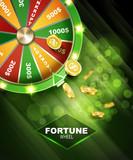 Wheel of fortune gambling background - 191680816