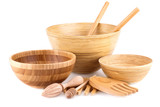 Bamboo bowls and wooden items