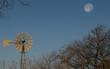 Rural Texas Setting Moon