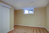 Empty room, sand beige walls, carpet floor in a luxury home. - 191700232