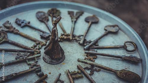 Metal Sculpture And Skeleton Keys Collection